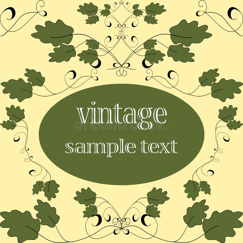Green vintage card royalty free stock photography