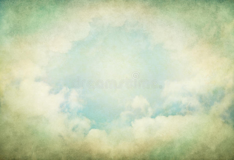 Green Vintage Clouds stock photos