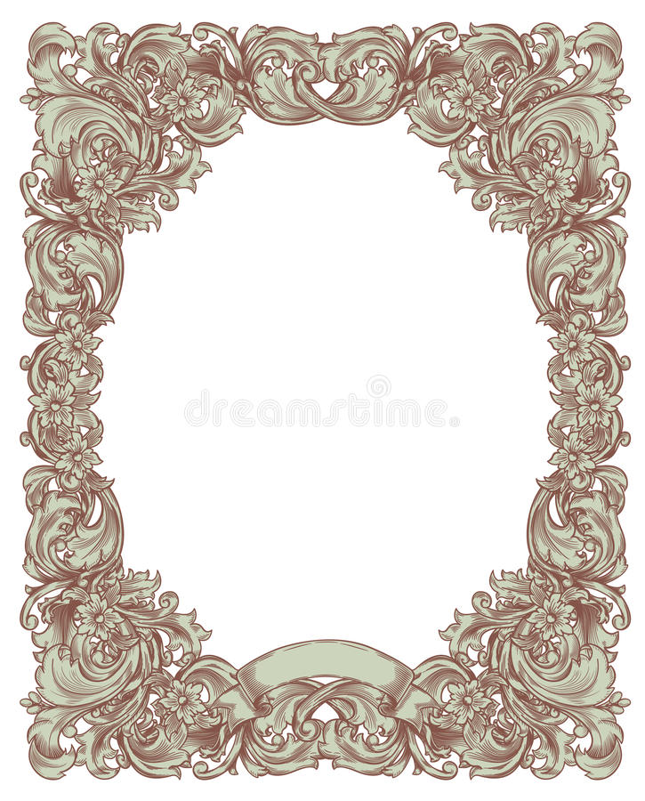 Download Green vintage frame stock vector. Image of scroll, decoration - 18834552