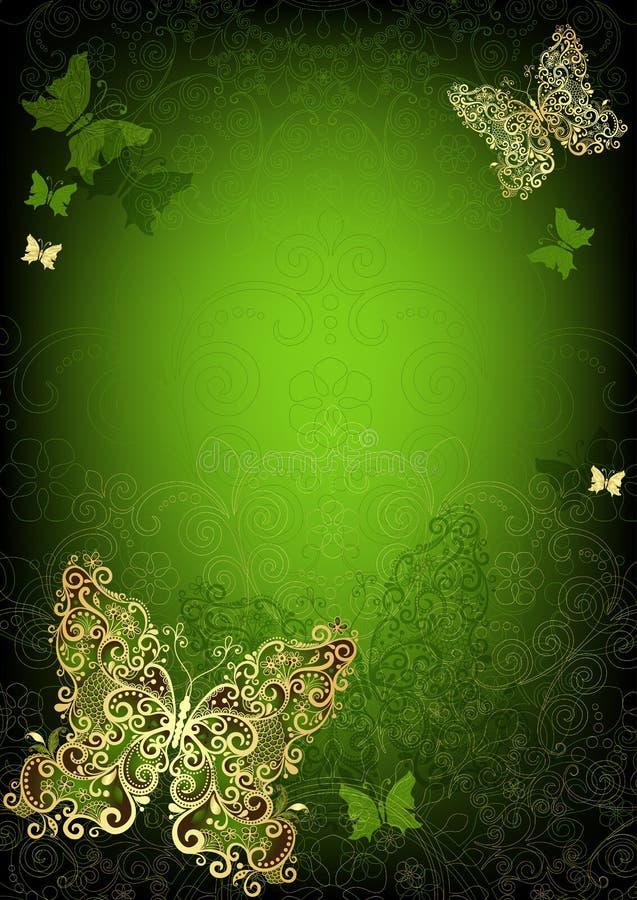 Green vintage frame stock photo