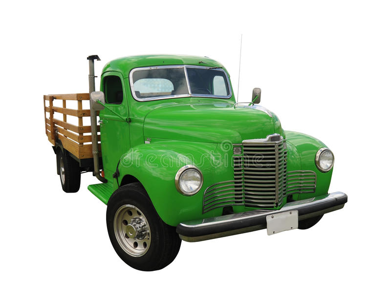 Green vintage truck royalty free stock image