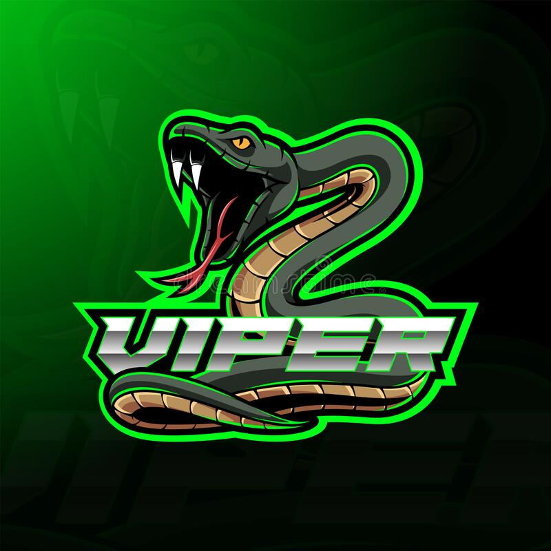 Free Green Viper Snake Mascot Logo Design Stock Photo - 187699330