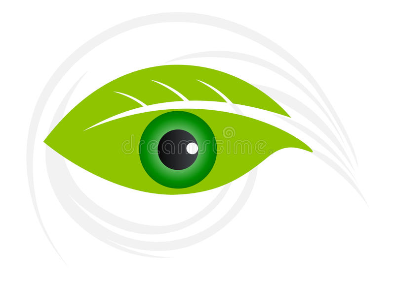 Green vision. Illustration of green vision design isolated on white background stock illustration