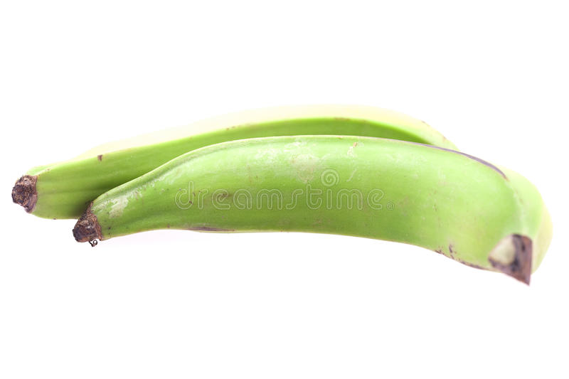 green vita isolerade stora plantains royaltyfri bild