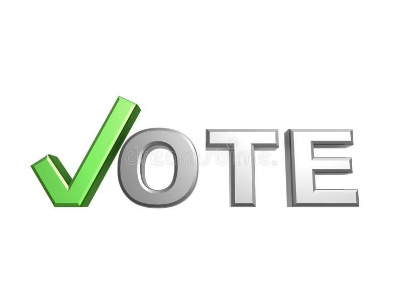 Green Vote Check Symbol Stock Illustration Illustration Of Right