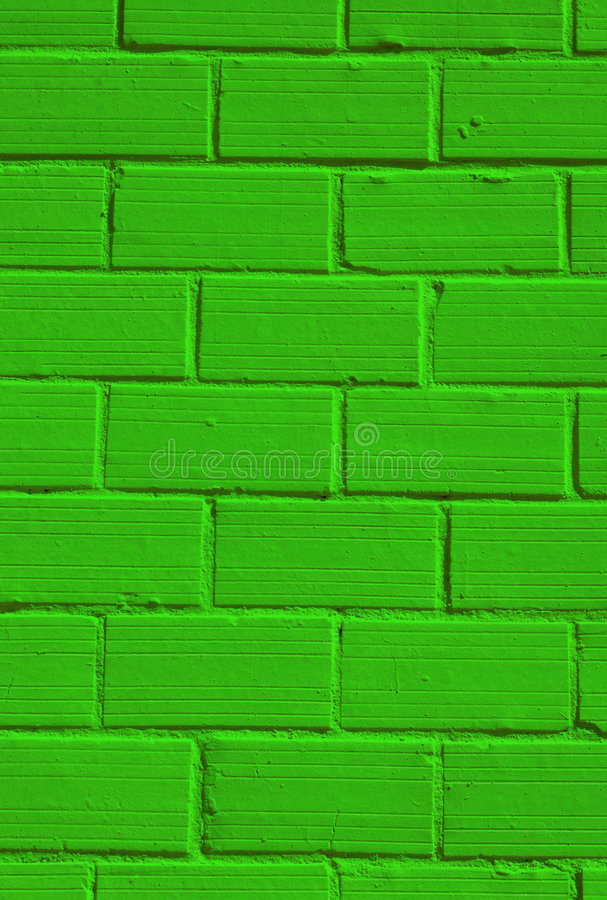 Green wall stock image