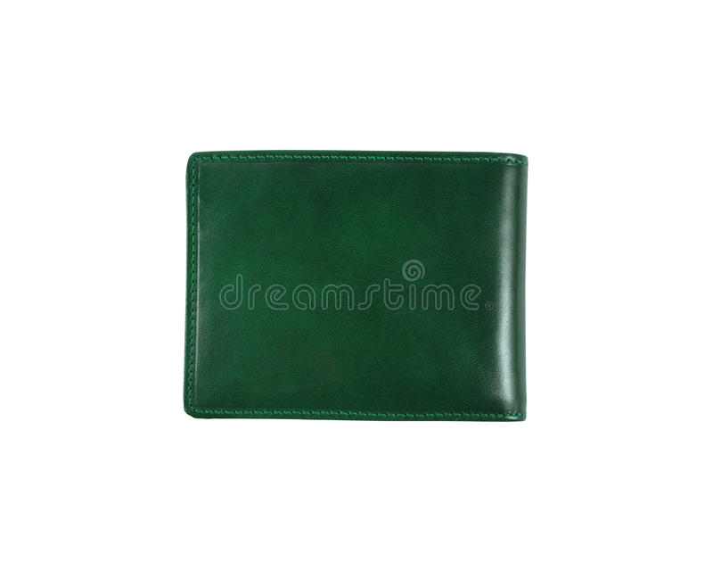 Green wallet stock photos