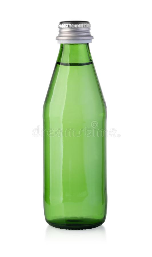 Green water bottles royalty free stock images
