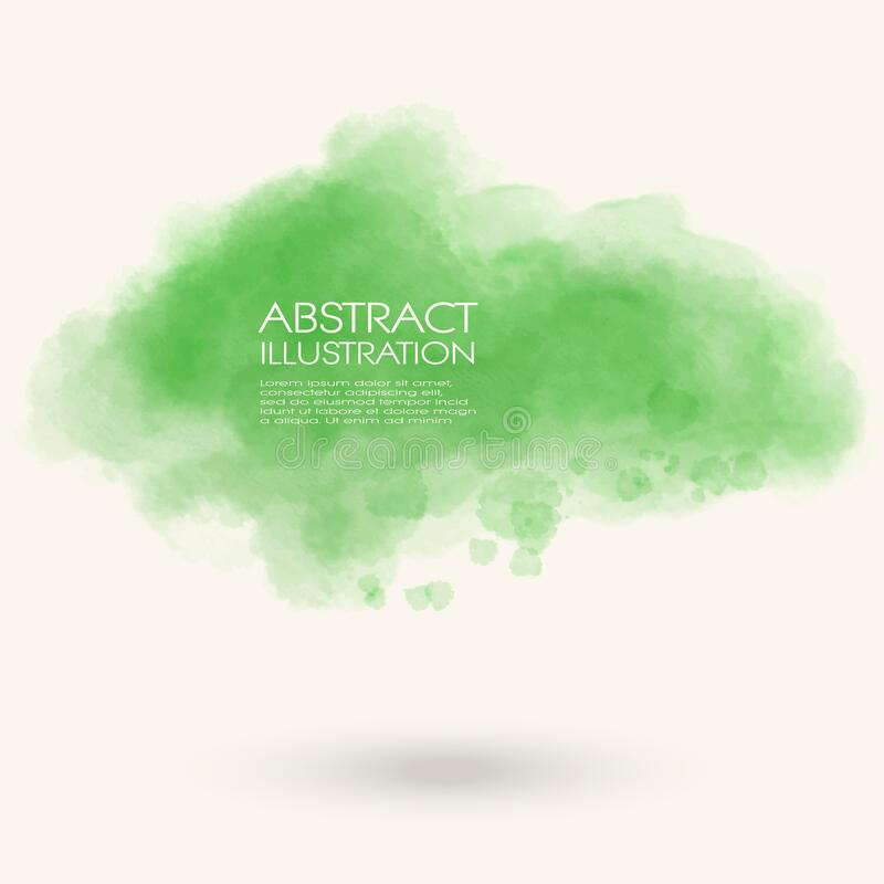 Free Green Water Color Splash. Soft Abstract Background Stock Photos - 171098213
