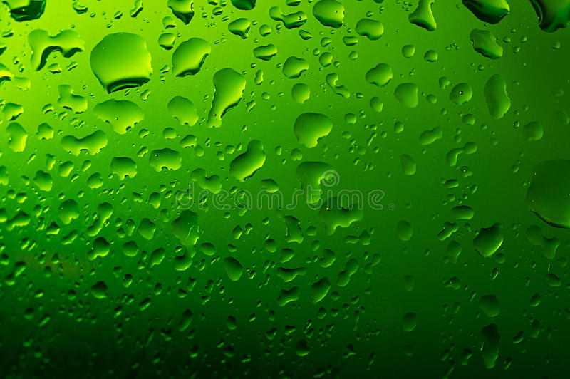 Download Green water droplets stock image. Image of clean, color - 18354451