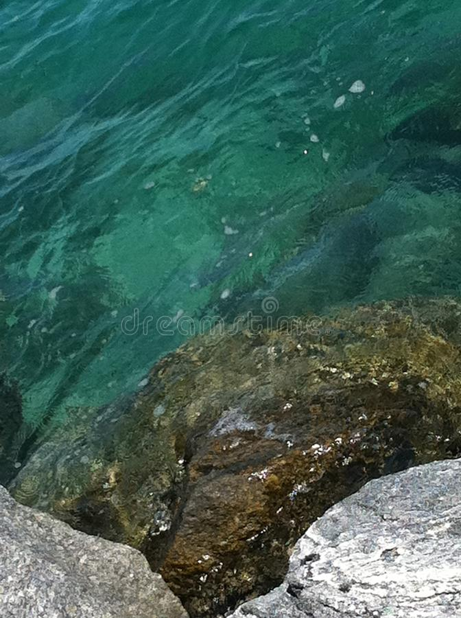 Green water royalty free stock image