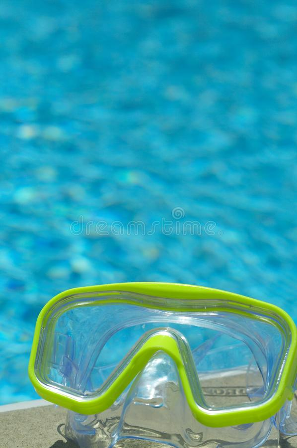 Green Water mask stock image
