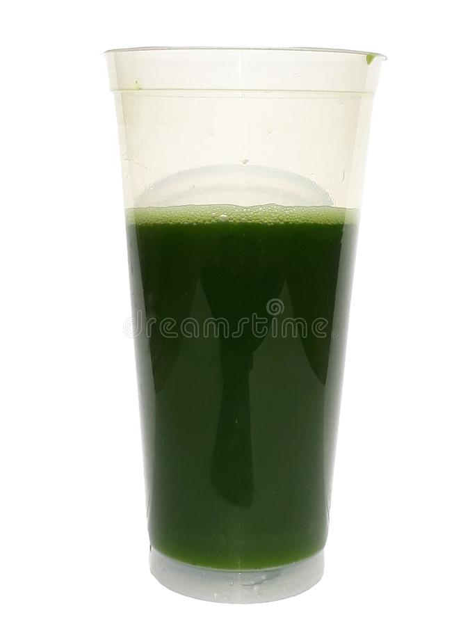 Green water pandan juice royalty free stock image