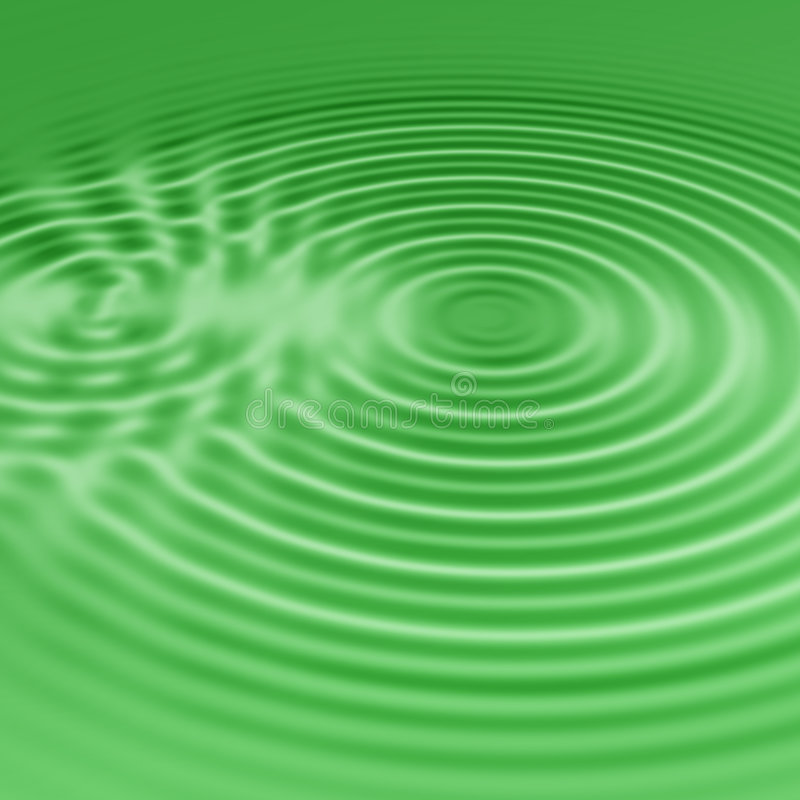 Green water ripples royalty free illustration