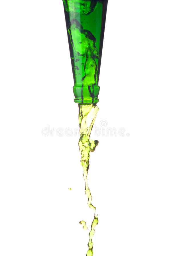 Green water splashes stock photography