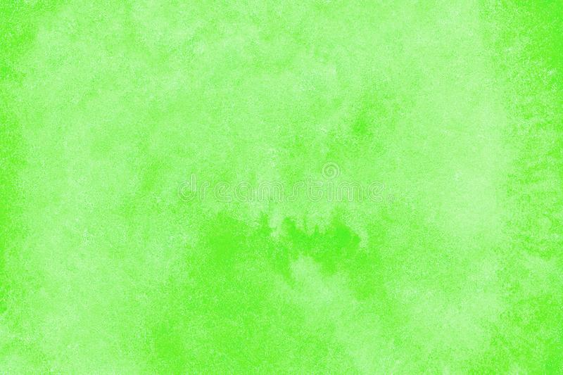 Green watercolor background for textures and backgrounds, circle round spot royalty free stock photography