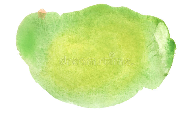 Green watercolor blob royalty free stock photo