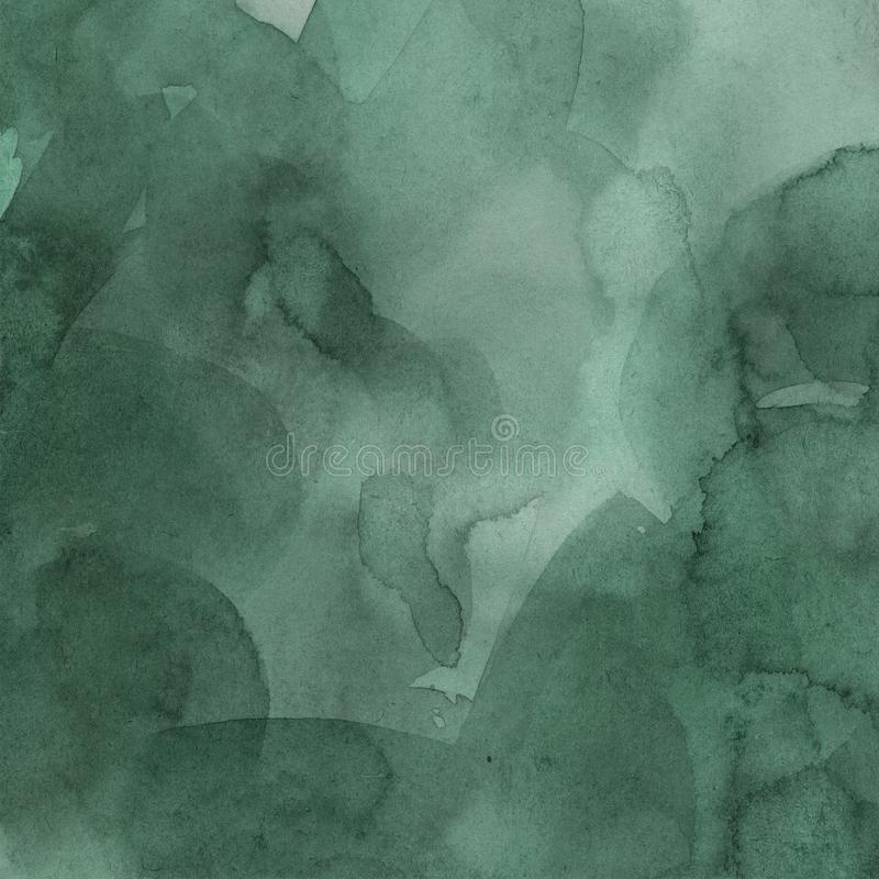 Green  watercolor gradient spot . abstract hand drawing. template stock photos