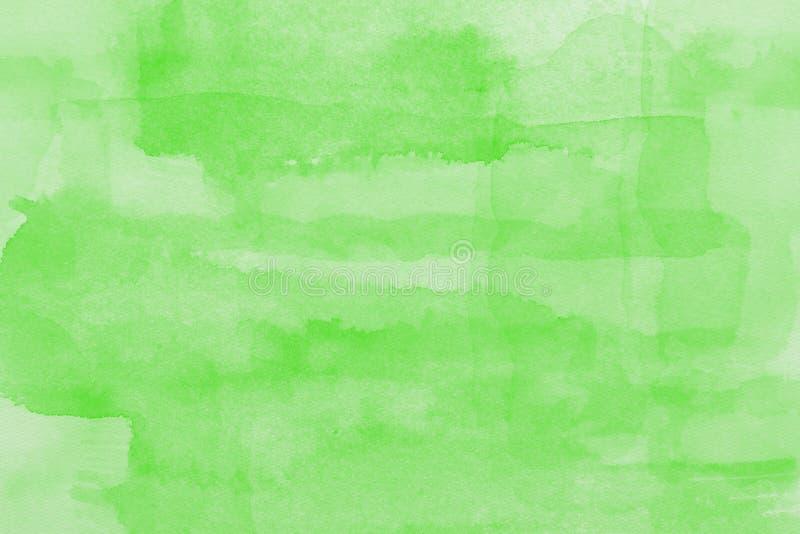 green watercolor paper texture vector illustration