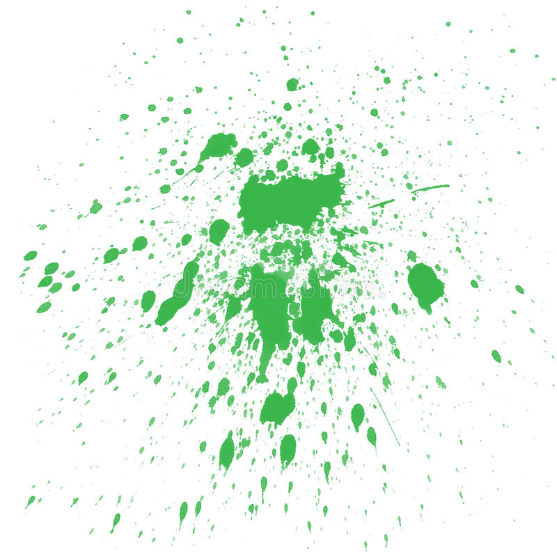 Green Watercolor splashes stock illustration