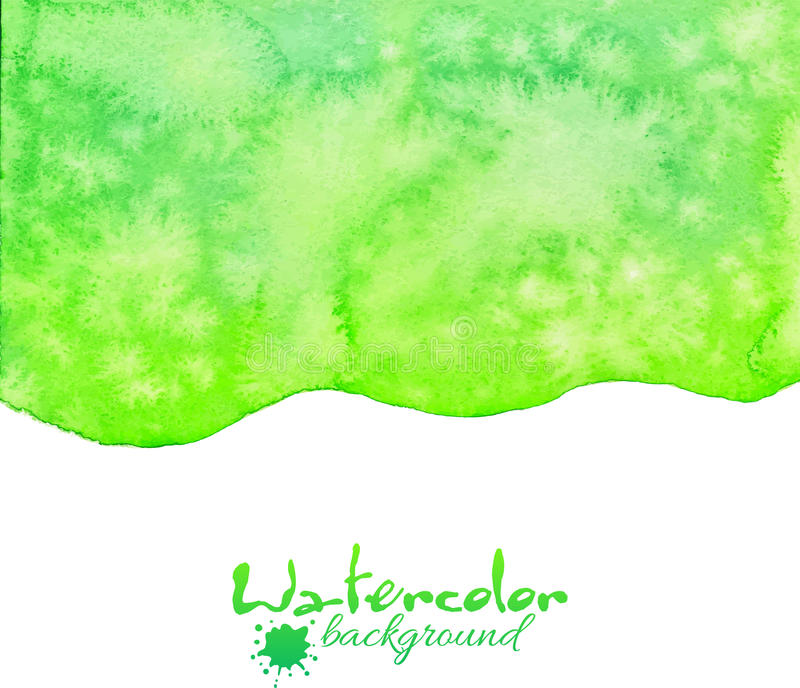 Green watercolor vector background stock illustration