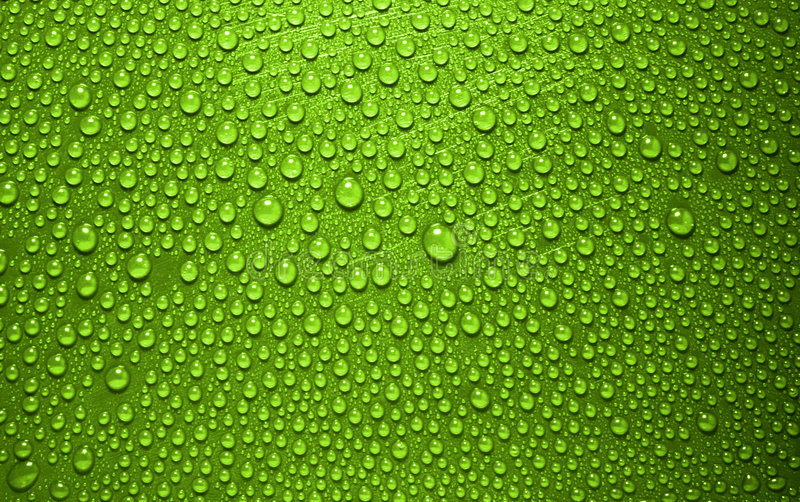 Green waterdrops royalty free stock image