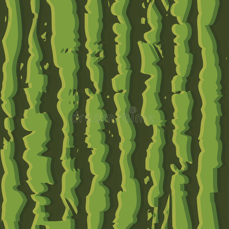 Green watermelon realistic seamless background pattern stock illustration