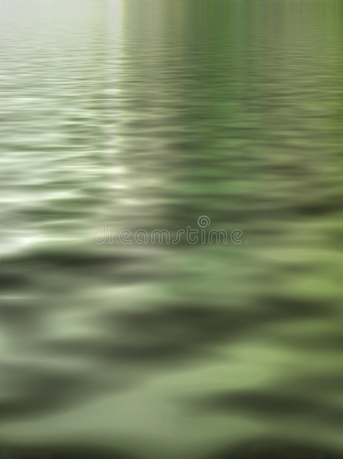 Green waters surreal stock image