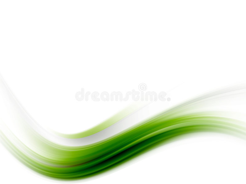 Download Green wave stock illustration. Illustration of abstraction - 7669805