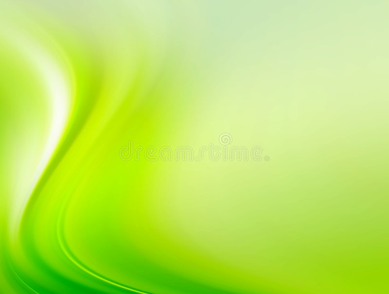 Green wave. Green dynamic wave with light. Abstract illustration royalty free illustration