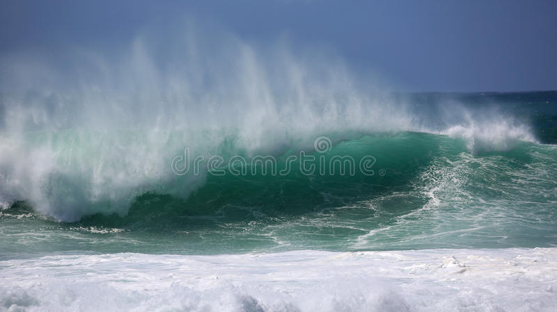 Green wave royalty free stock photo