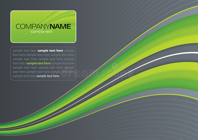 Green wave on gray royalty free illustration
