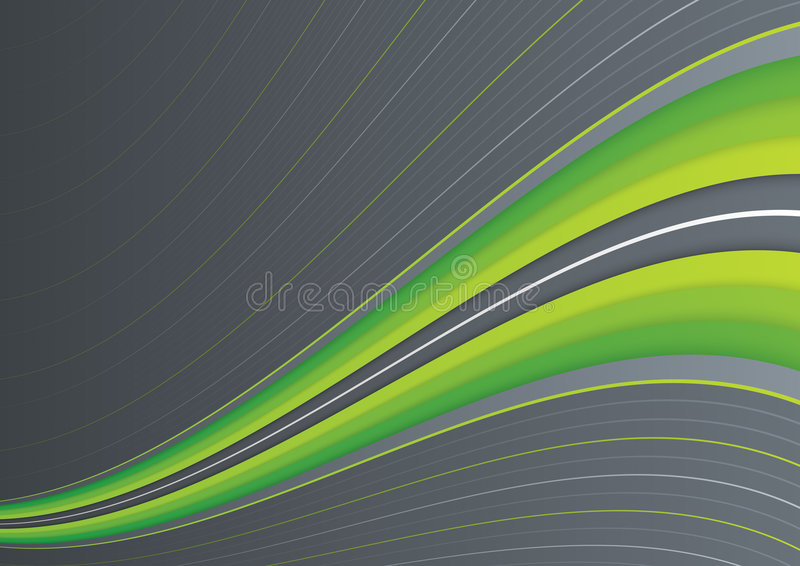 Download Green wave on gray stock illustration. Image of pattern - 8168319