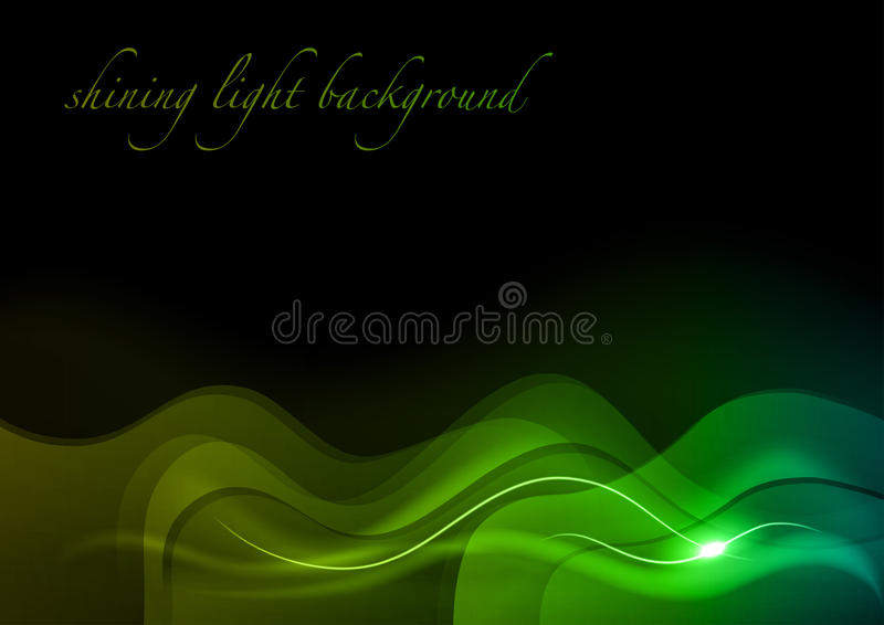 Download Green waves stock vector. Image of graphic, fractal, glow - 24174423