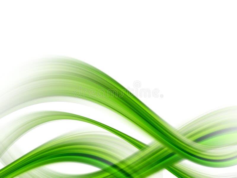 Green waves royalty free illustration