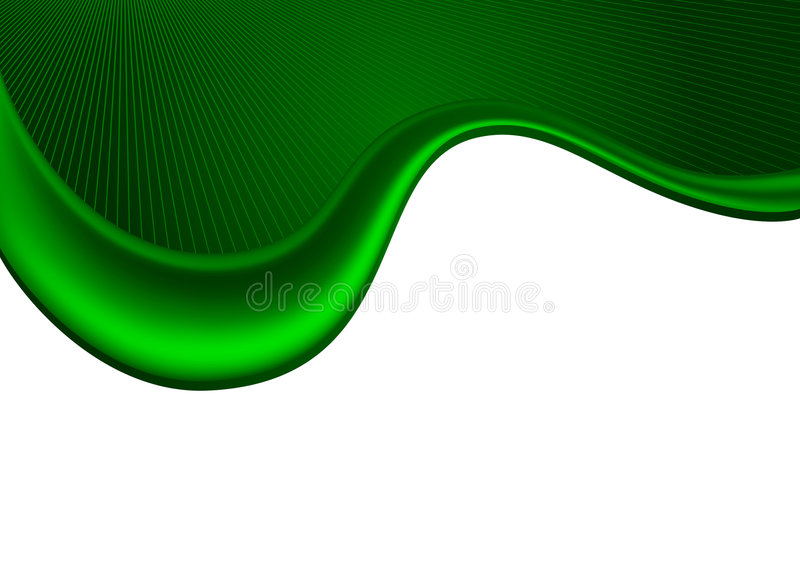 Green_waves_background stock illustratie