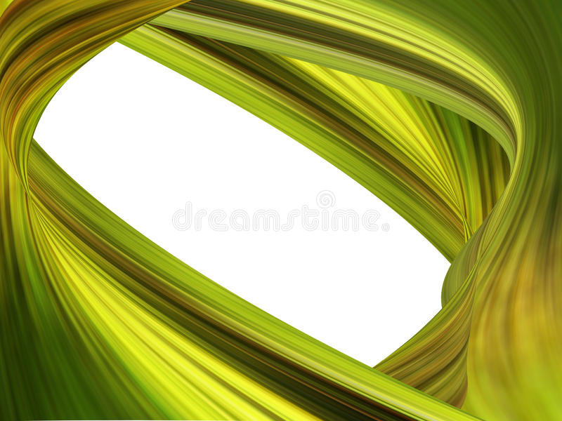 Green waves lines royalty free stock photos