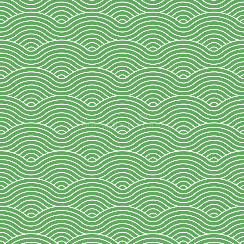 Green vector curvy waves pattern stock photography