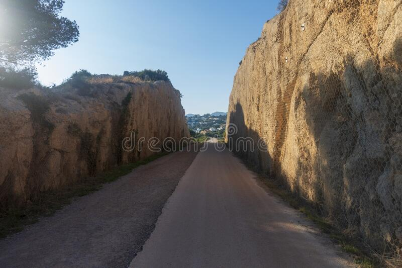 The green way of Benicassim and oropesa del mar, Costa azahar. Spain royalty free stock photography