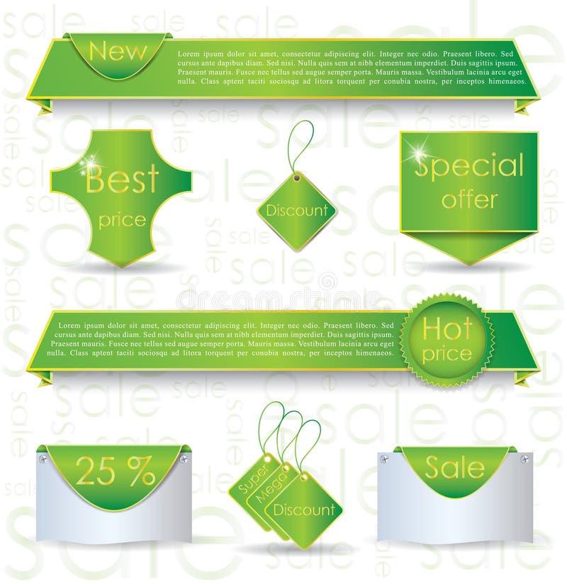 Download Green Web Design Banner Sale For Website Stock Vector - Image: 25325396