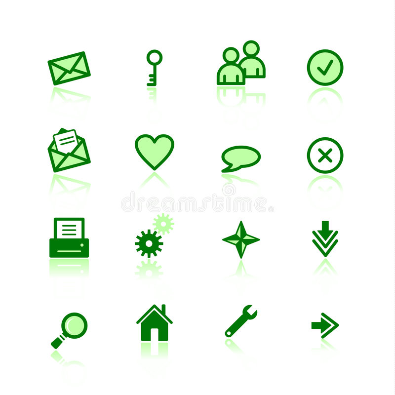 Free Green Web Icons Royalty Free Stock Images - 2039339