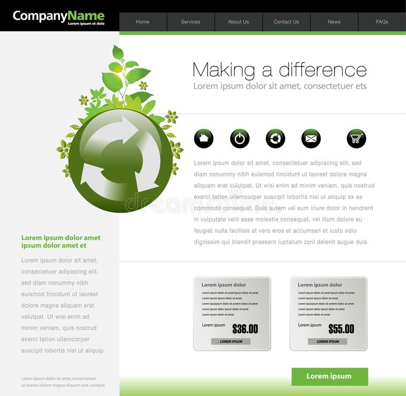 Green Website Template Stock Images