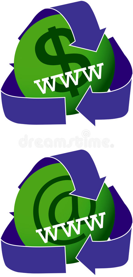 Download Green Websites Icons stock illustration. Illustration of recycle - 4686977