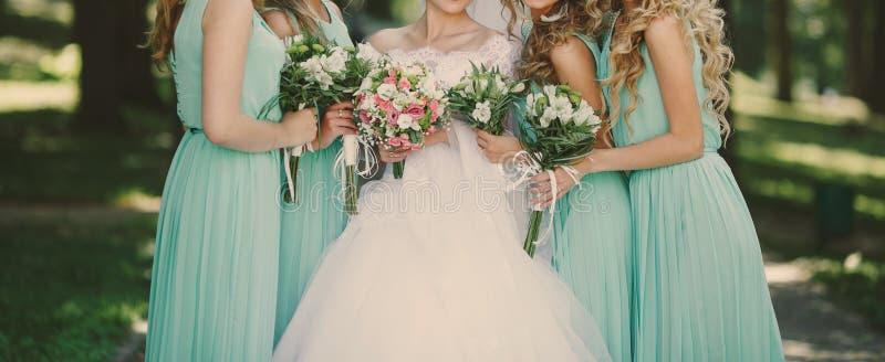 Green wedding. Pale green color aquamarine wedding stock image
