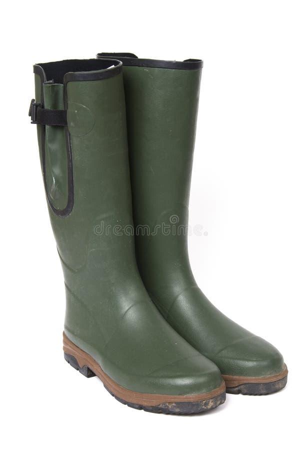 green wellington boots royalty free stock photos