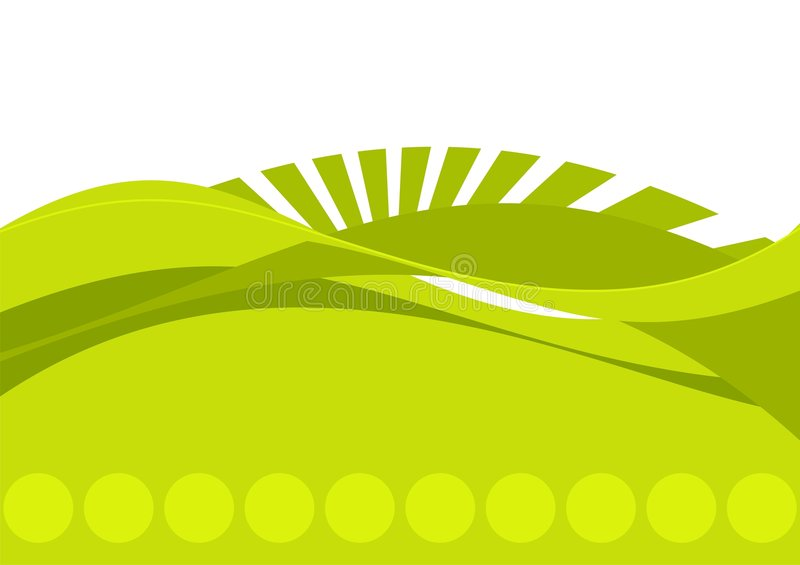Green And White Abstract vector illustration