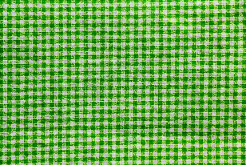 Green and white checkered tablecloth banner. Green and white checkered tablecloth royalty free stock images