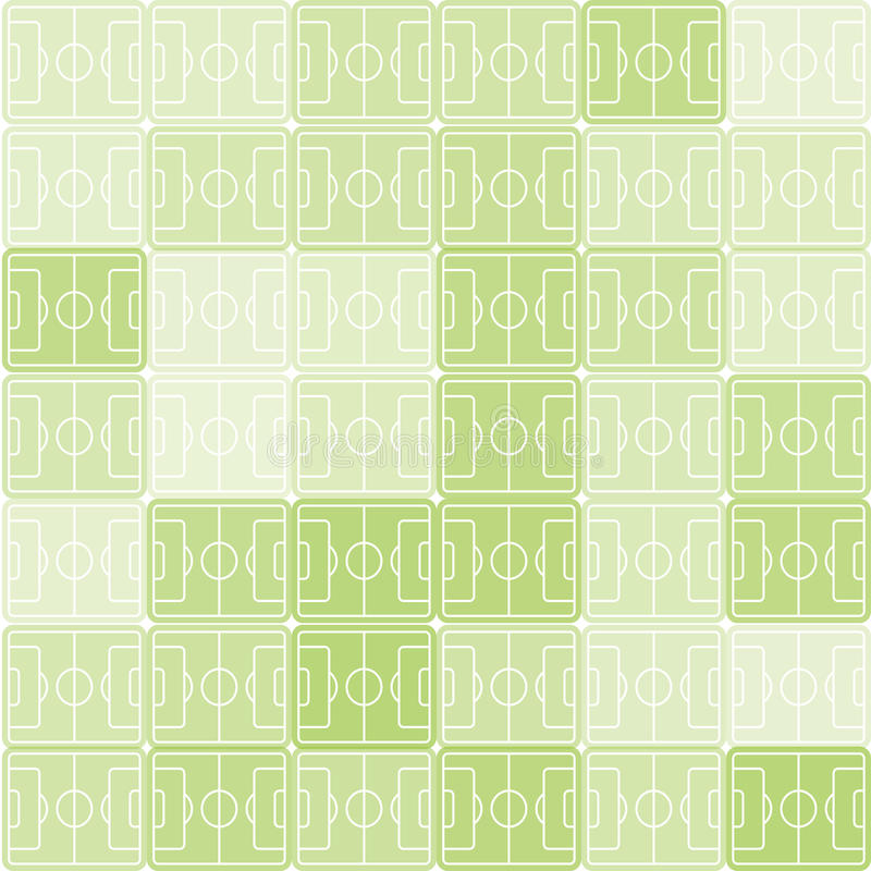 Green and white color football, soccer field vector background. Checkered backdrop. Sport pattern. Green and white color football, soccer field vector stock illustration