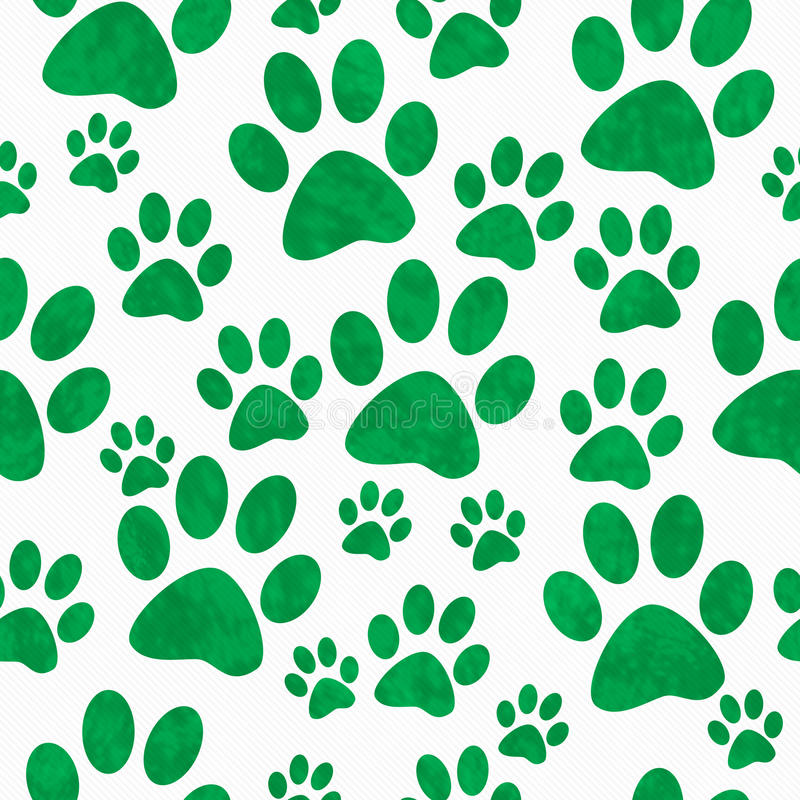 Download Green And White Dog Paw Prints Tile Pattern Repeat Background Stock Image - Image of element, puppy: 60051813