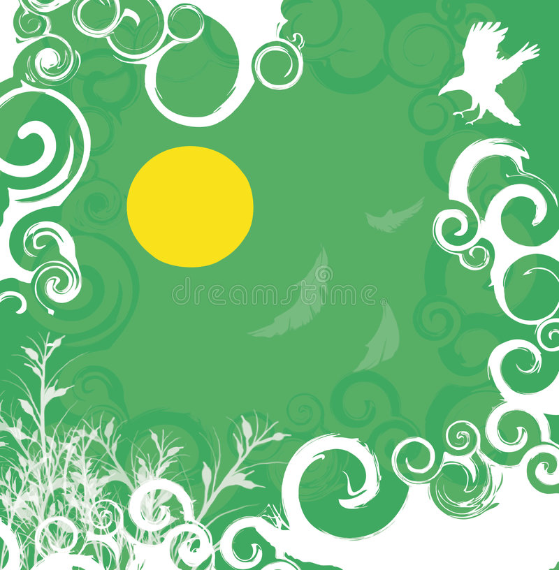 Download Green-white Floral Background Stock Vector - Image: 2304008
